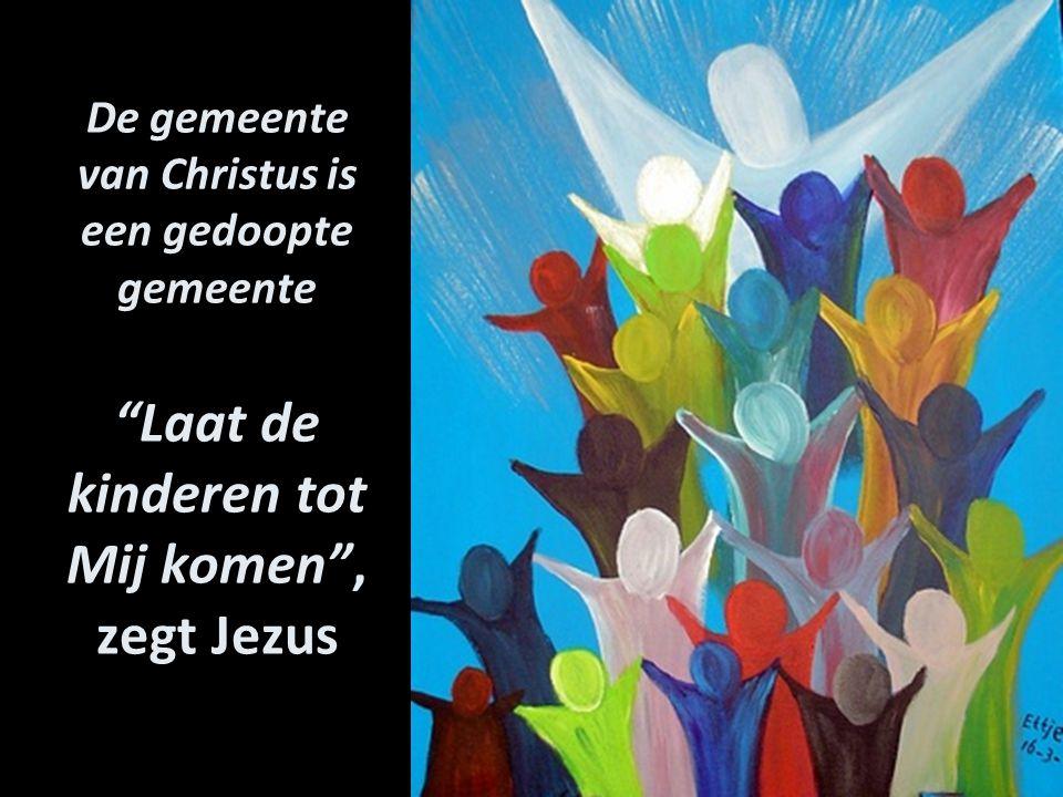 """De gemeente van Christus is een gedoopte gemeente """"Laat de kinderen tot Mij komen"""", zegt Jezus"""