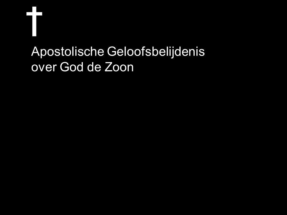 Apostolische Geloofsbelijdenis over God de Zoon