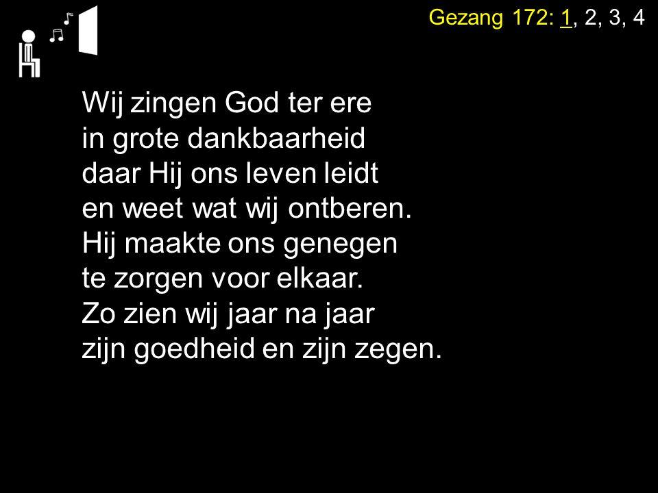Gezang 172: 1, 2, 3, 4 Al krimpen mijn gedachten en raak ik woorden kwijt, verlies ik taal en tijd, uw woord is levenskrachtig.