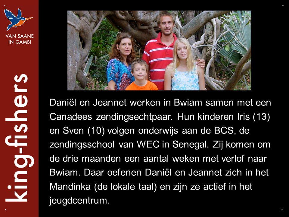 Daniël en Jeannet werken in Bwiam samen met een Canadees zendingsechtpaar. Hun kinderen Iris (13) en Sven (10) volgen onderwijs aan de BCS, de zending