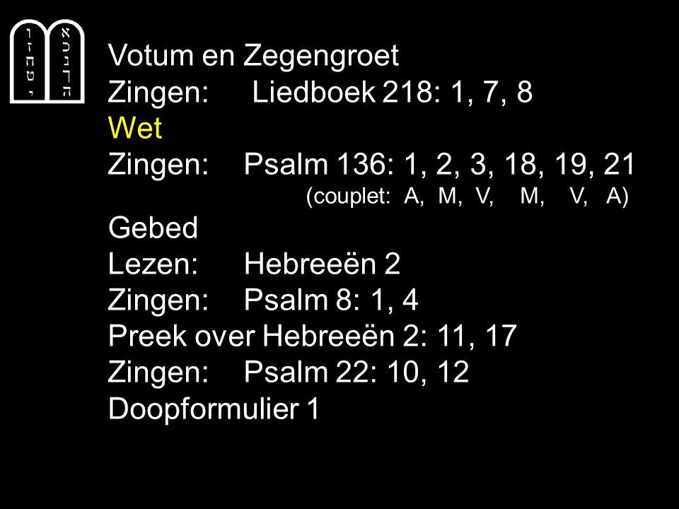Gezang 124: 1, 2, 3 (NG 64) Je huilt nog van verwondering, maar jij hoort hier, in onze kring.