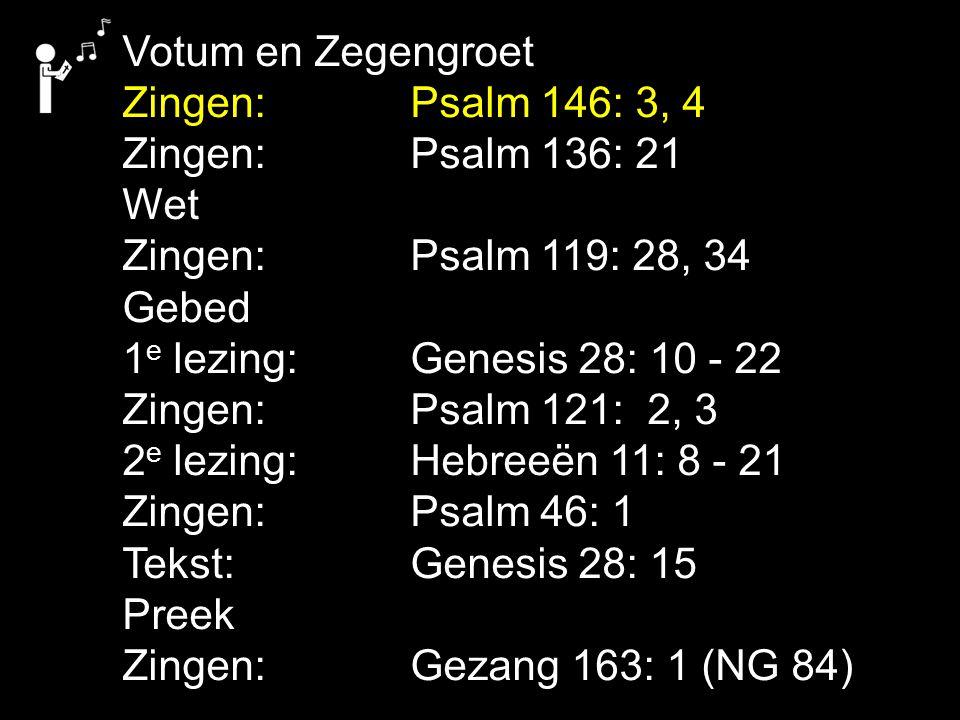 Gezang 163: 1 (NG 84) Ik bouw op U, mijn schild en mijn verlosser.