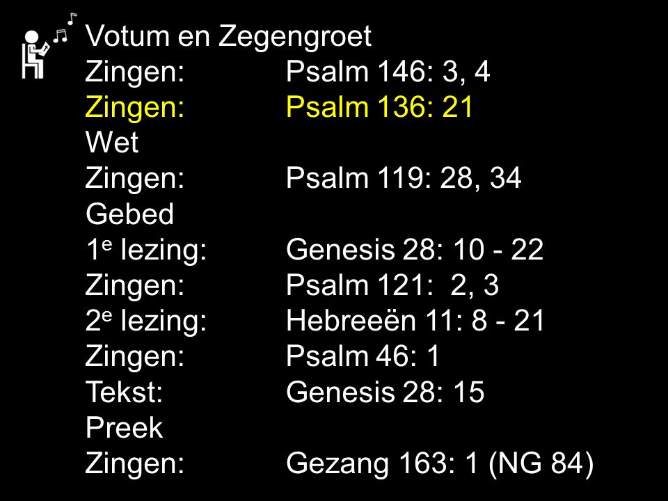Gebed/ voorbeden Collecte Zingen:Gezang 163: 2, 3 (NG 84) Zegen