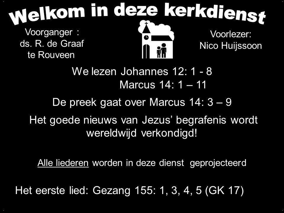Liedboek 177: 1, 2, 3, 4, 7 O allerheiligst, onuitspreeklijk wonder: de Rechter zelf gaat aan het recht ten onder.