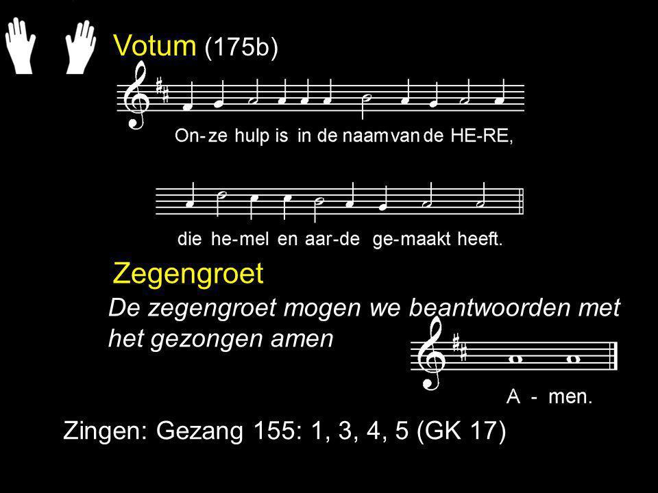 Zingen: Gezang 46: 1, 2, 3, (NG 27) Dankzegging en voorbede Collecte Zingen: Psalm 118: 10 Zegen