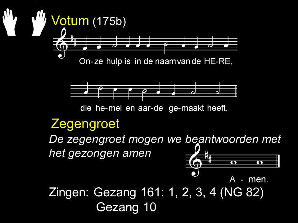 Liedboek 398: 1, 2, 6, 7 (melodie: ps.