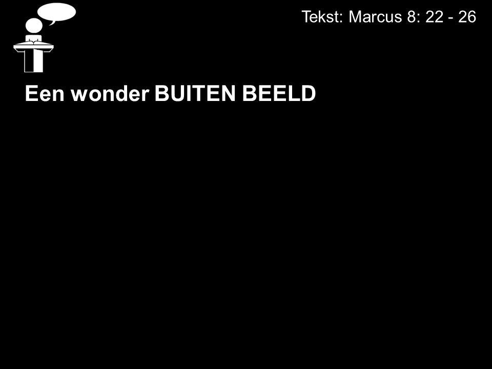 Tekst: Marcus 8: 22 - 26 Een wonder BUITEN BEELD