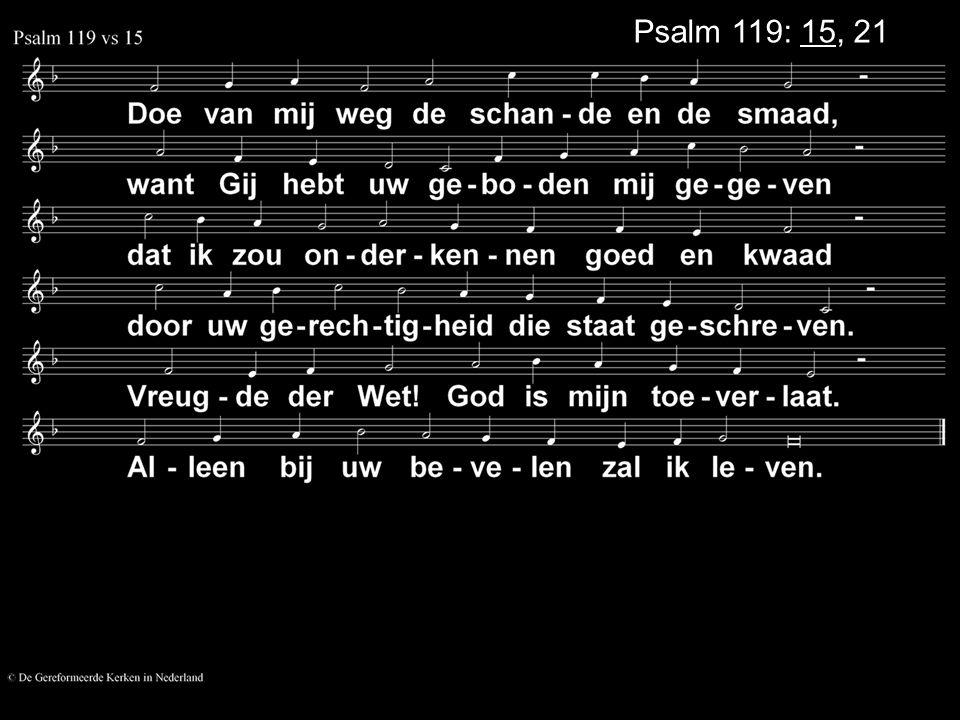 Psalm 119: 15, 21