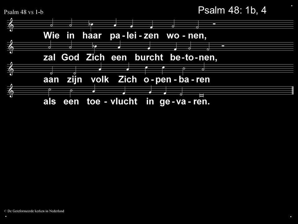 ... Psalm 48: 1b, 4a