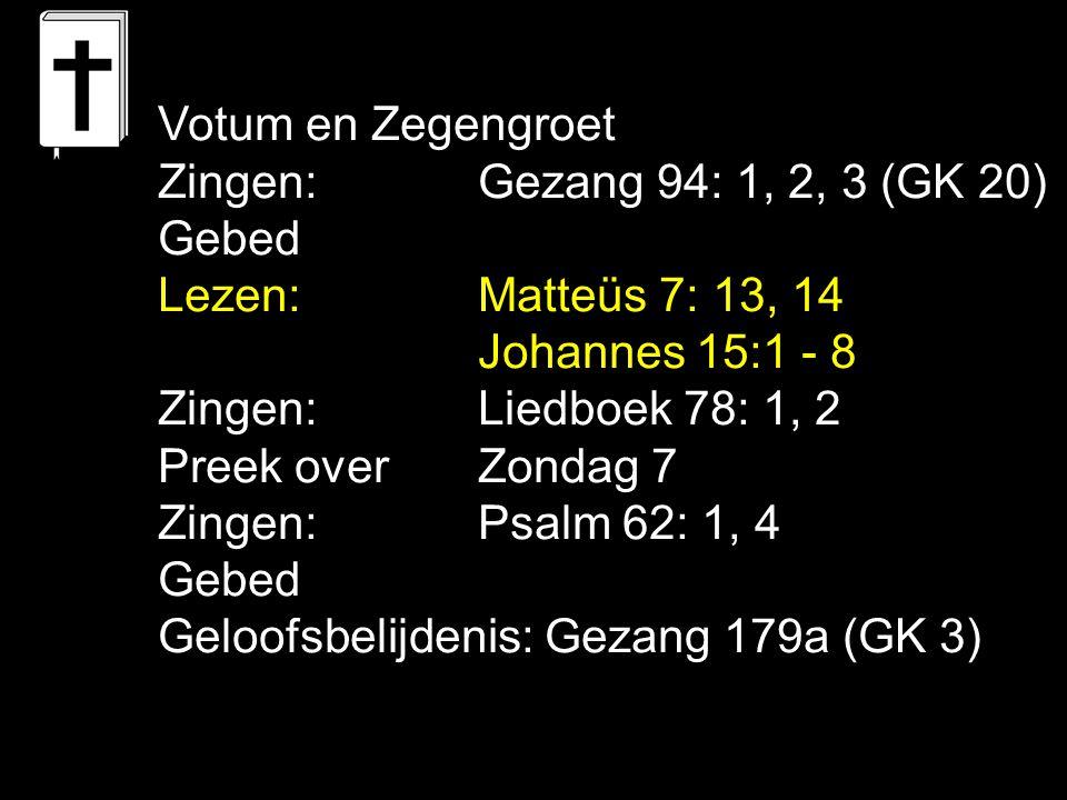 Liedboek 78: 1, 2 Laat me in U blijven, groeien, bloeien, o Heiland die de wijnstok zijt.