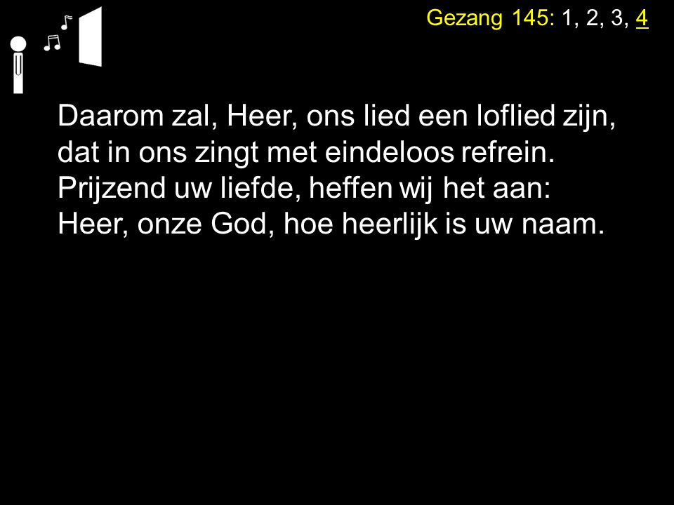 Tekst: Spreuken 15: 17 Zingen: Liedboek 473: 1, 2, 7, 9,10 5.