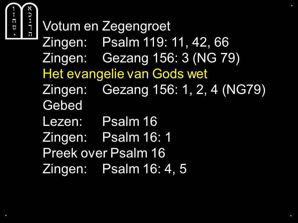 .... Tekst: Psalm 16 Daarom juicht mijn ziel Hoe gaat het met je ziel?