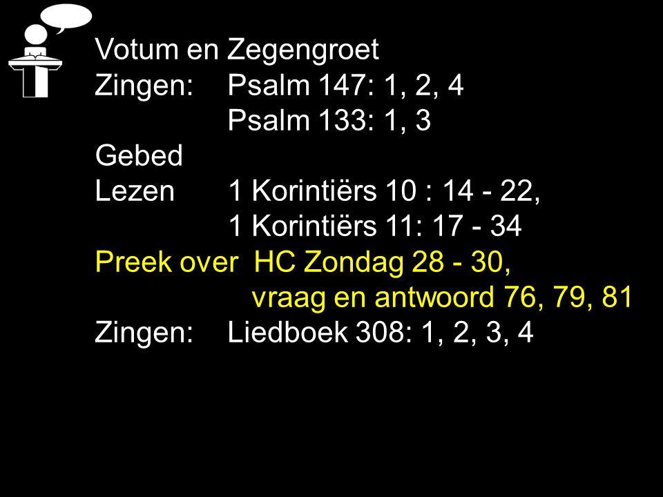 Het Heilig Avondmaal Leerpreek over HC 28-30 - vr/a 76, 79 en 81