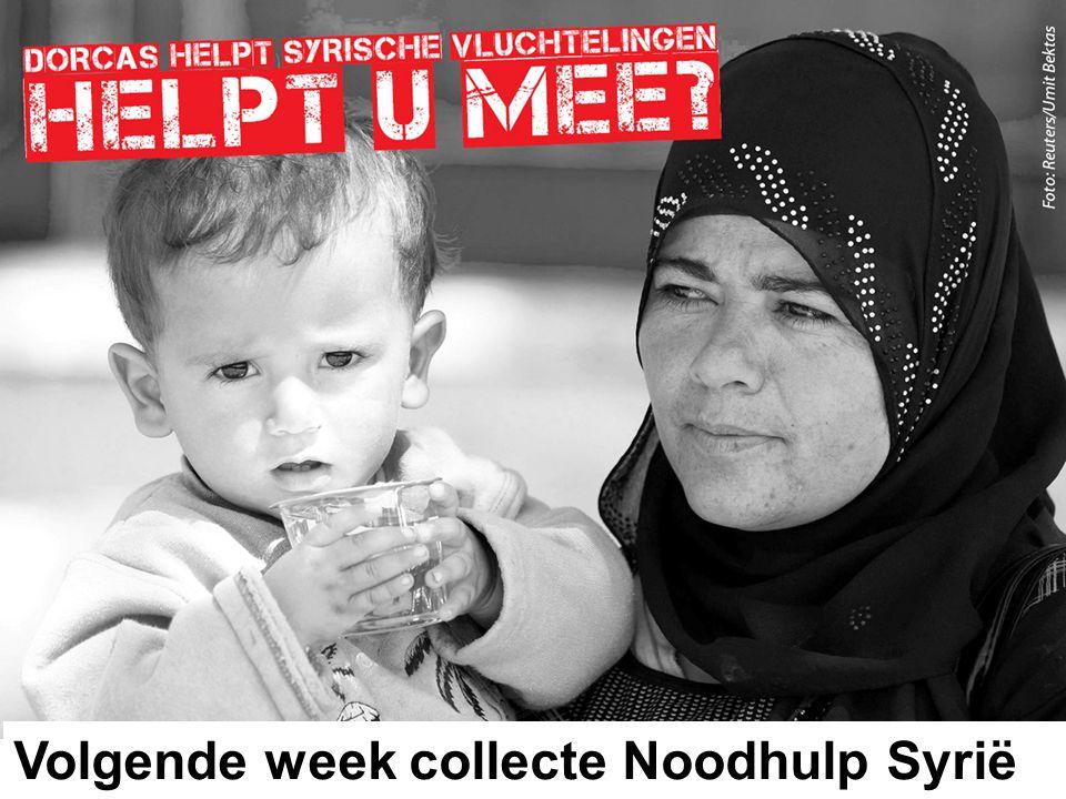 Noodhulp Syrië 44 Volgende week collecte Noodhulp Syrië