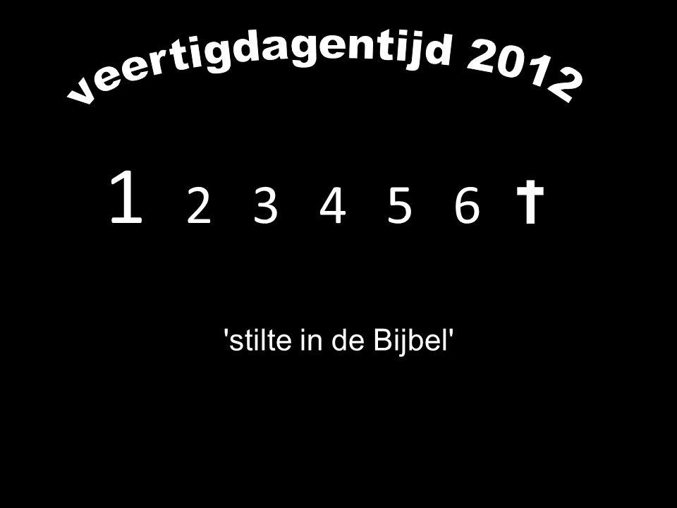 1 2 3 4 5 6 'stilte in de Bijbel'