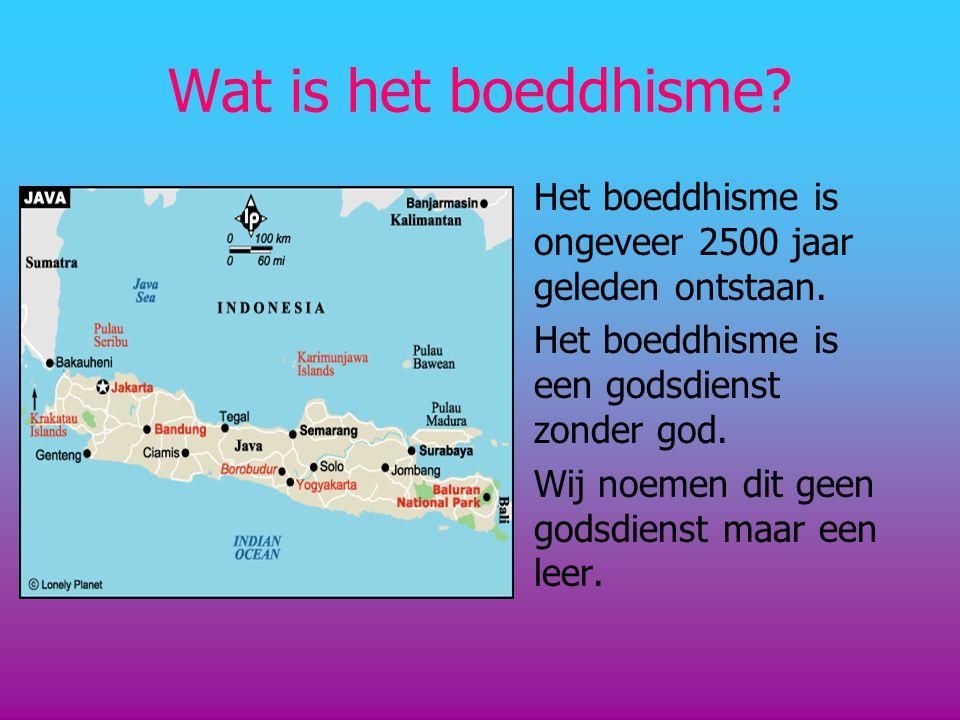 Wat is het boeddhisme? Het boeddhisme is ongeveer 2500 jaar geleden ontstaan. Het boeddhisme is een godsdienst zonder god. Wij noemen dit geen godsdie