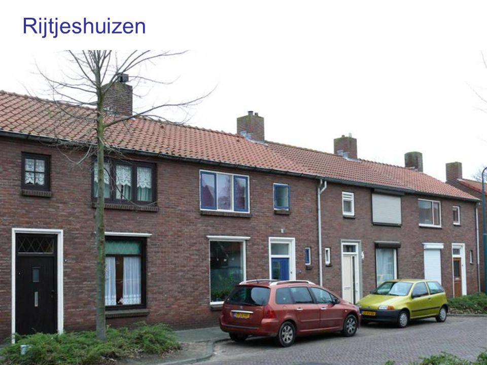 Veel huizen op één rij