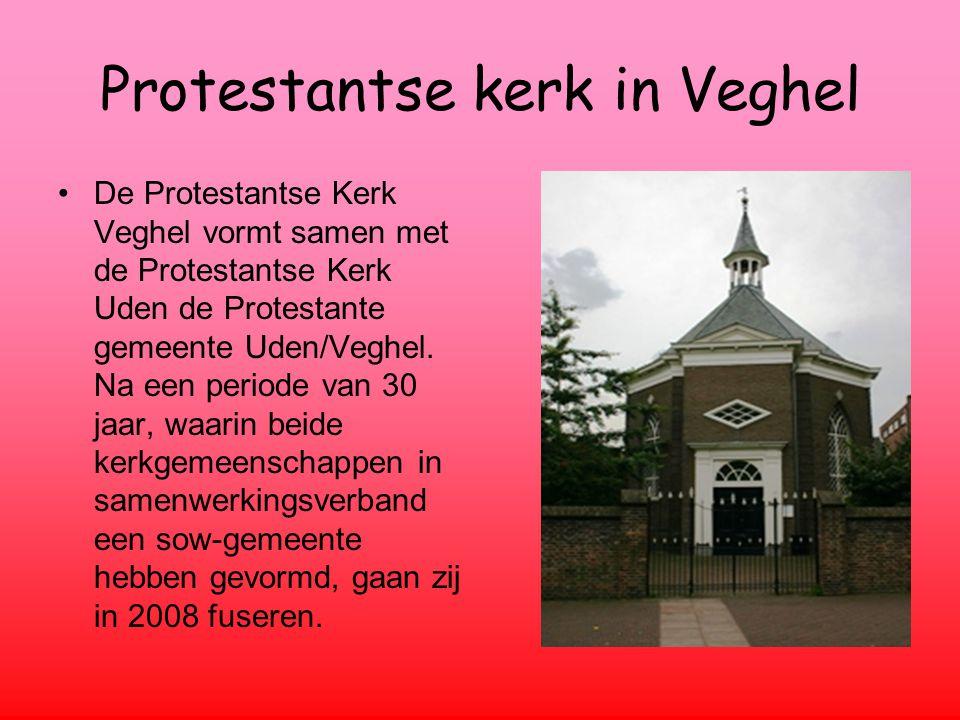 Protestantse kerk in Veghel De Protestantse Kerk Veghel vormt samen met de Protestantse Kerk Uden de Protestante gemeente Uden/Veghel.