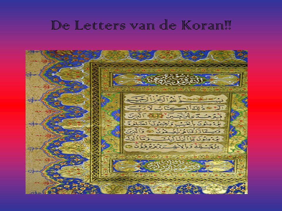 De Letters van de Koran!!