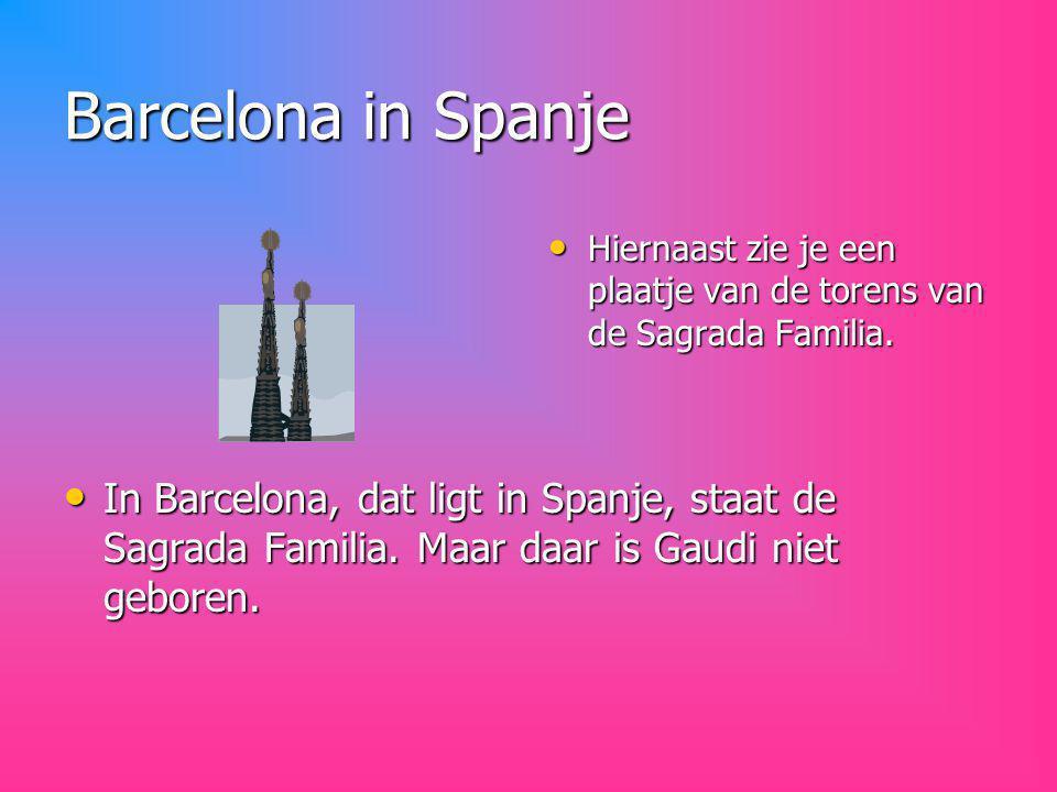 Gaudi is geboren in het Catalaanse plaatsje Reus.
