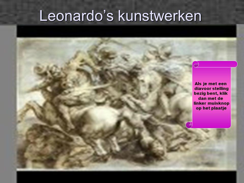 Leonardo's kunstwerken Als je met een diavoor stelling bezig bent, klik dan met de linker muisknop op het plaatje