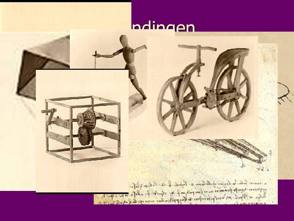 uitvindingen Leonardo da Vinci was naast een schilder ook een uitvinder.