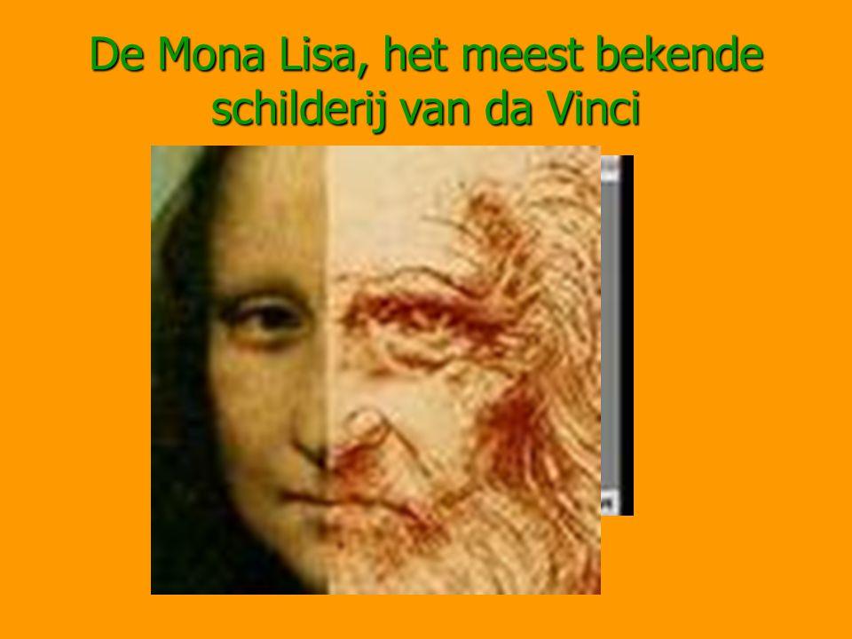 De Mona Lisa, het meest bekende schilderij van da Vinci