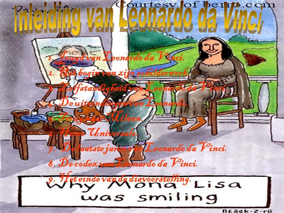 1.Jeugd van Leonardo da Vinci. 2. Het begin van zijn schilderwerk.