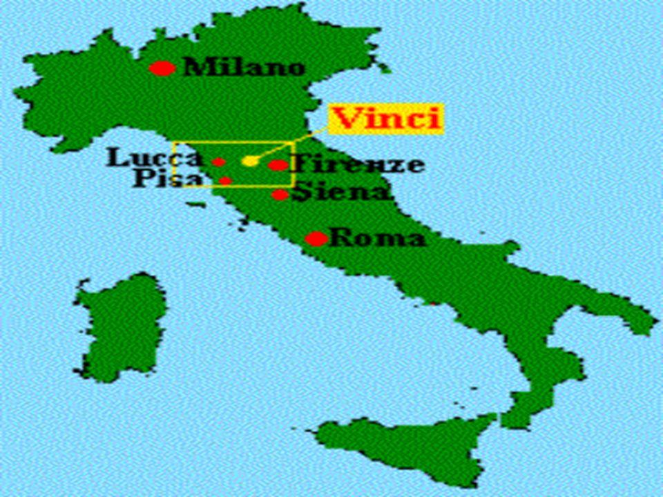 Leonardo da Vinci komt uit het kleine plaatsje Vinci in de buurt van Florence.
