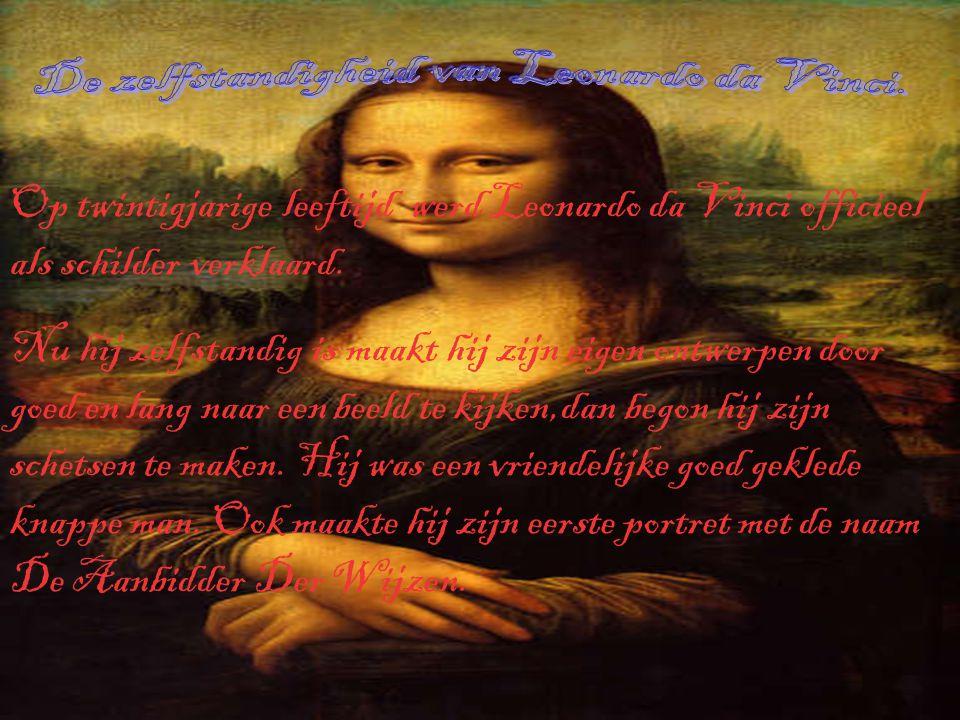 Leonardo da Vinci begon simpel met schetsen van mooie dingen te maken.