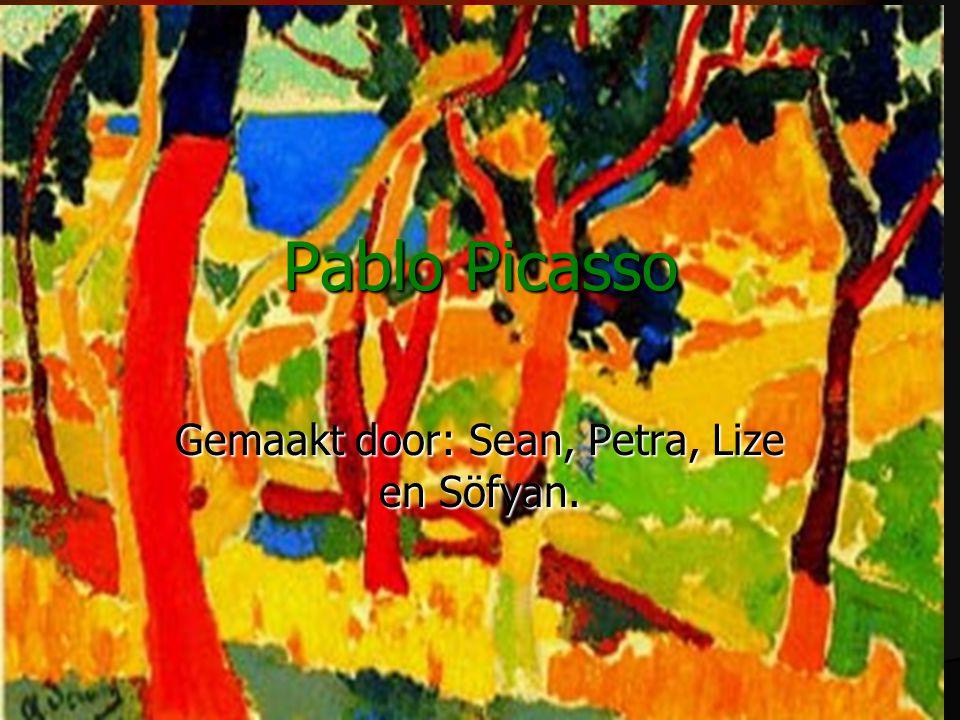 Pablo Picasso Gemaakt door: Sean, Petra, Lize en Söfyan.