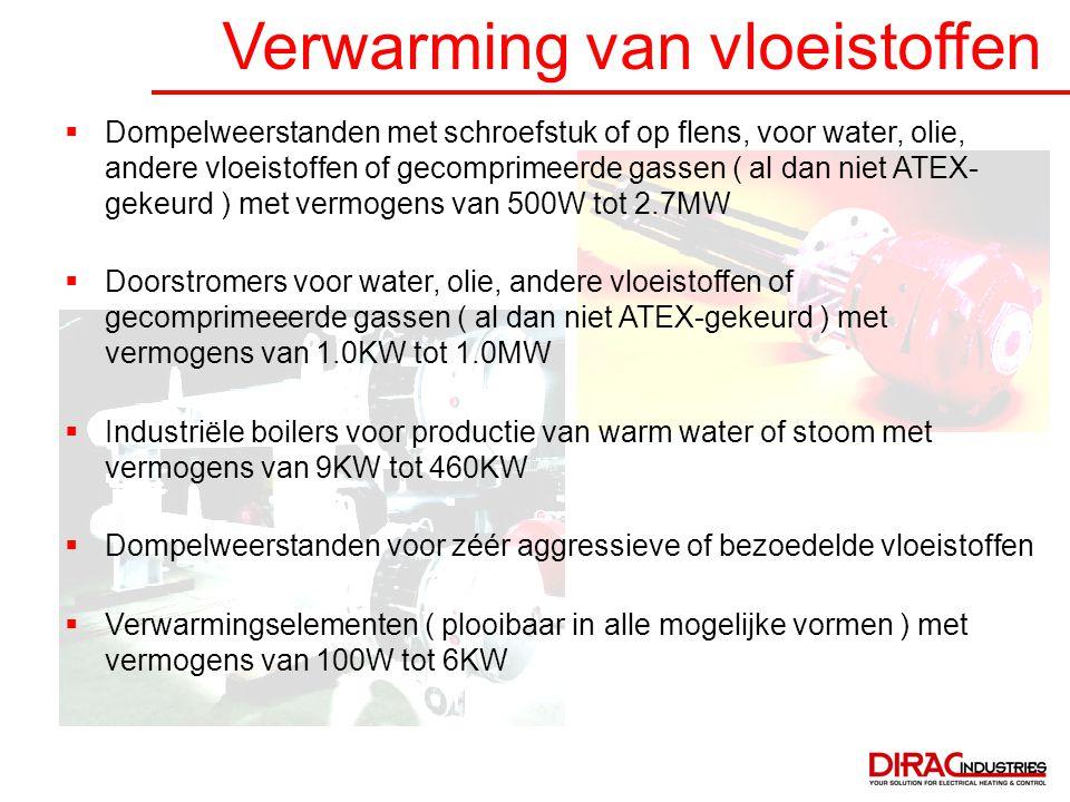 Verwarming van vloeistoffen  Dompelweerstanden met schroefstuk of op flens, voor water, olie, andere vloeistoffen of gecomprimeerde gassen ( al dan n