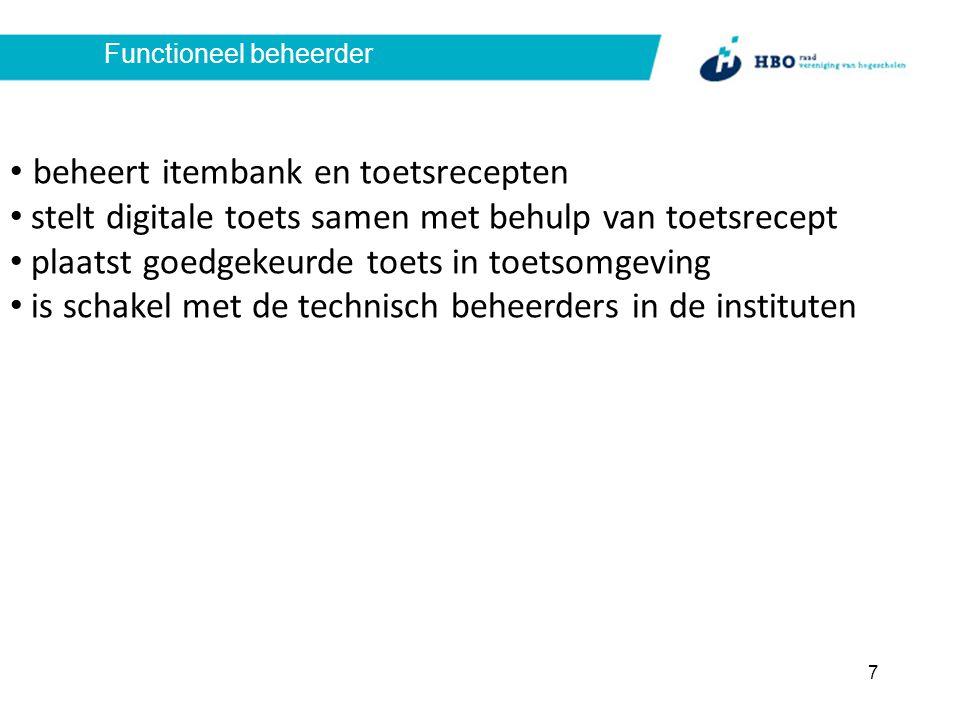 Bureau Stichting toetsitembank dagelijkse leiding, administratie en organisatie ondersteuning commissies ondersteuning stichtingsbestuur 8