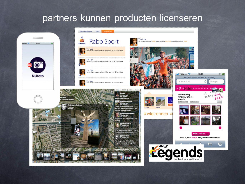 partners kunnen producten licenseren