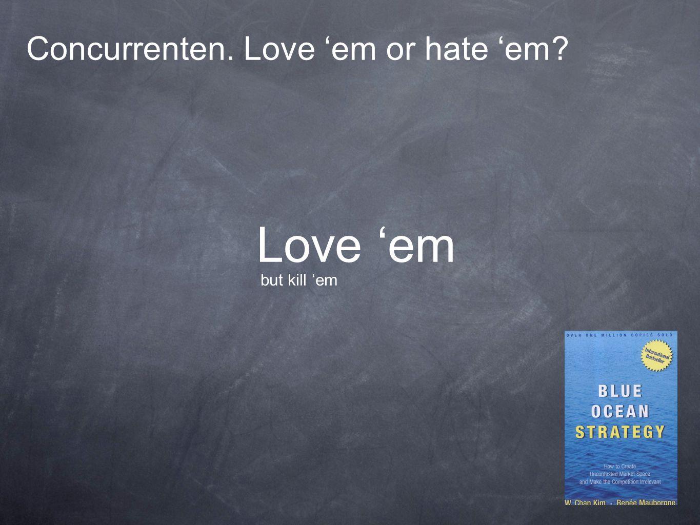 Concurrenten. Love 'em or hate 'em? Love 'em but kill 'em