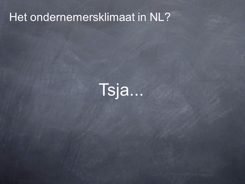 Het ondernemersklimaat in NL Tsja...