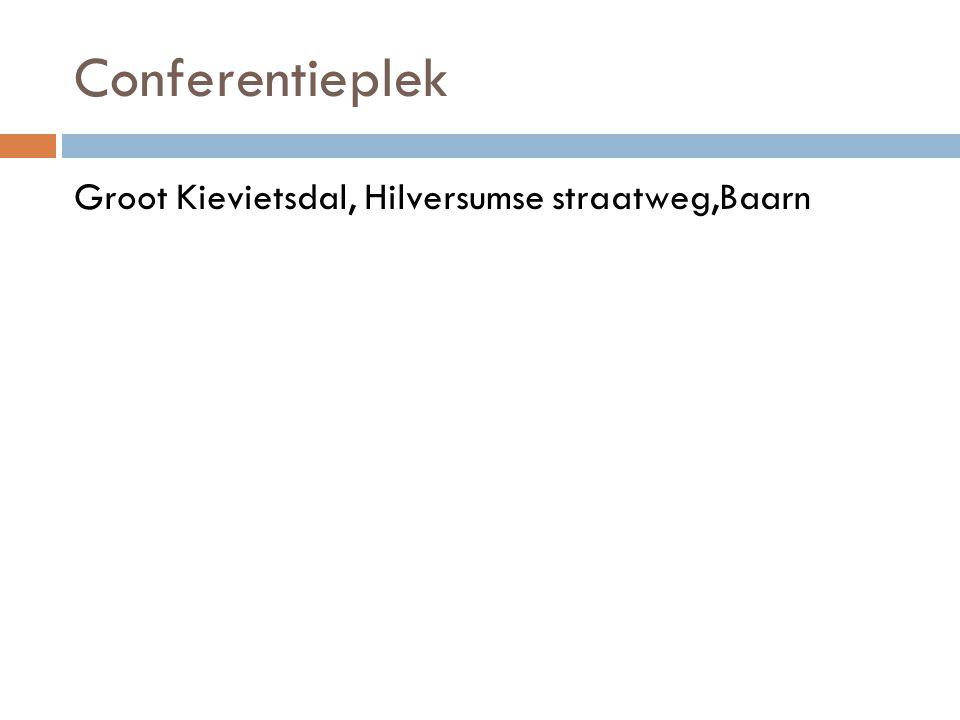 Conferentieplek Groot Kievietsdal, Hilversumse straatweg,Baarn