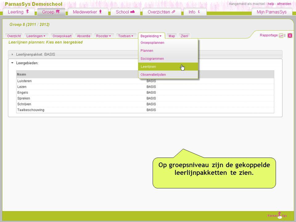 Planning maken: leerdoelen voor de hele groep op één scherm.