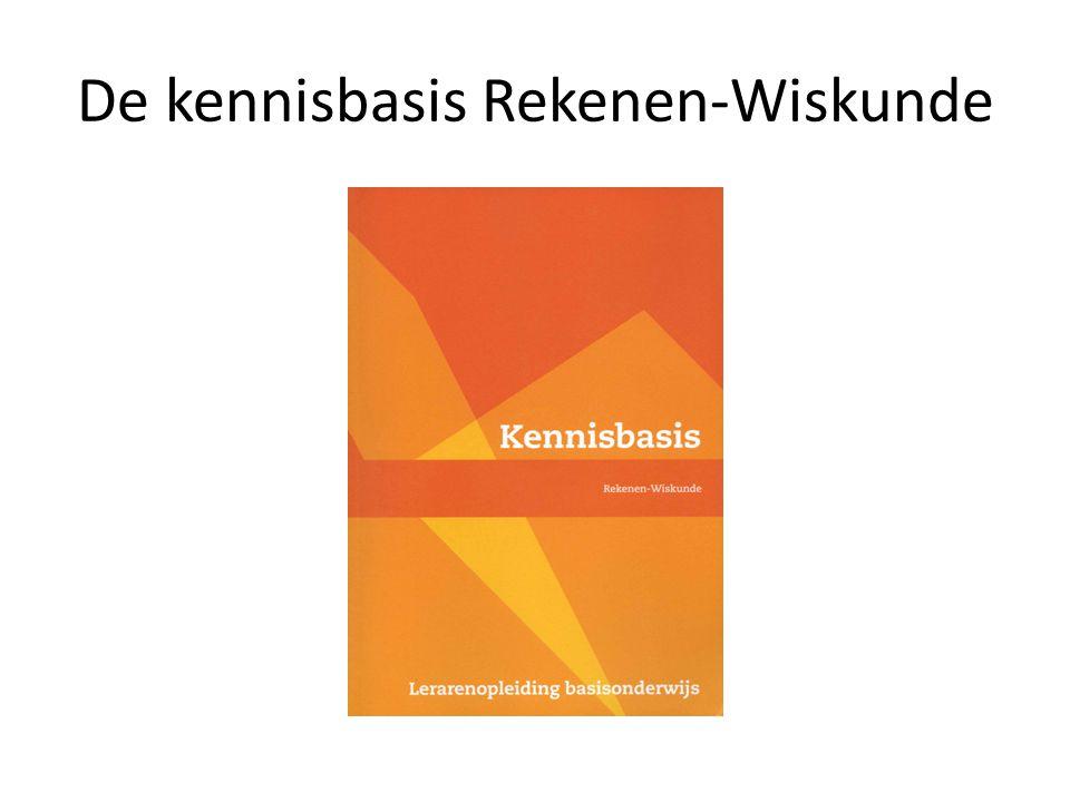 De kennisbasis Rekenen-Wiskunde