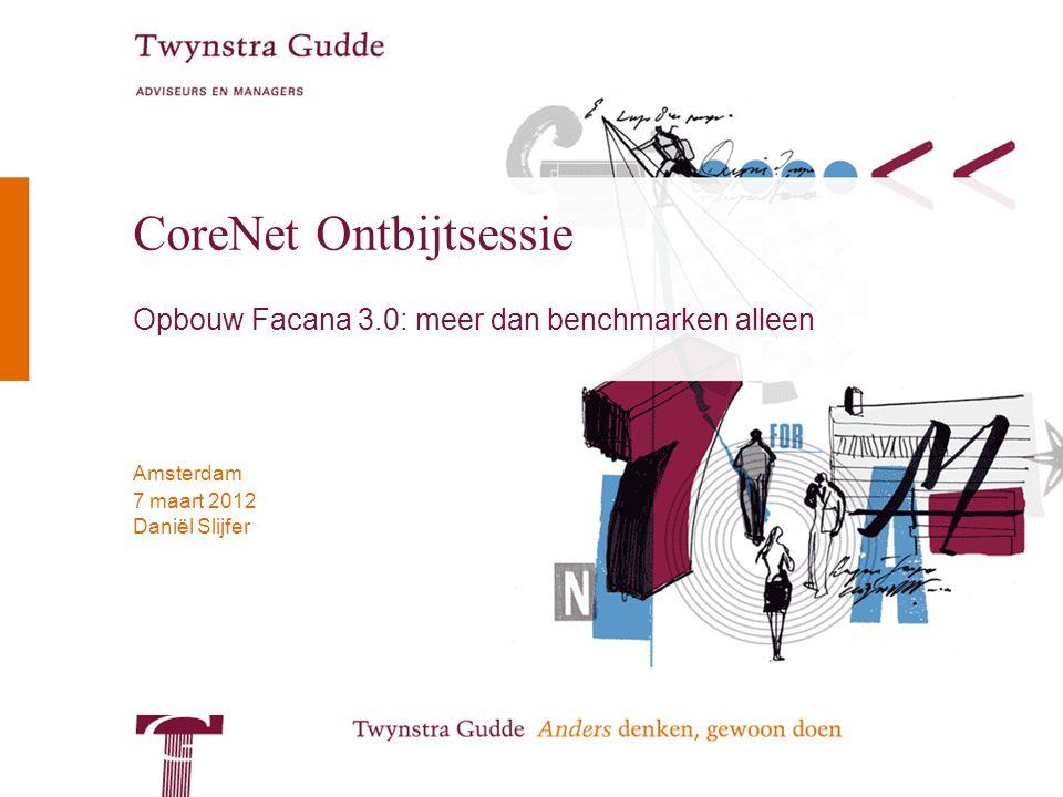 © Twynstra Gudde 7-3-2012 CoreNet Ontbijtsessie 2 Agenda 1.Even voorstellen… 2.Wat is Facana niet.
