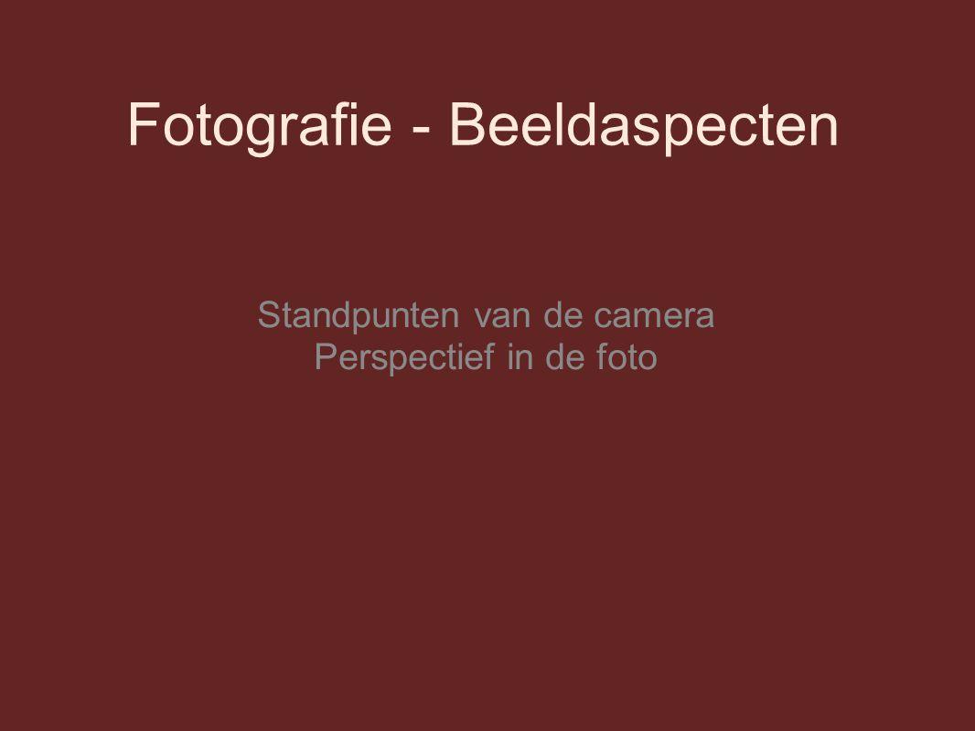 Fotografie - Beeldaspecten Standpunten van de camera Perspectief in de foto
