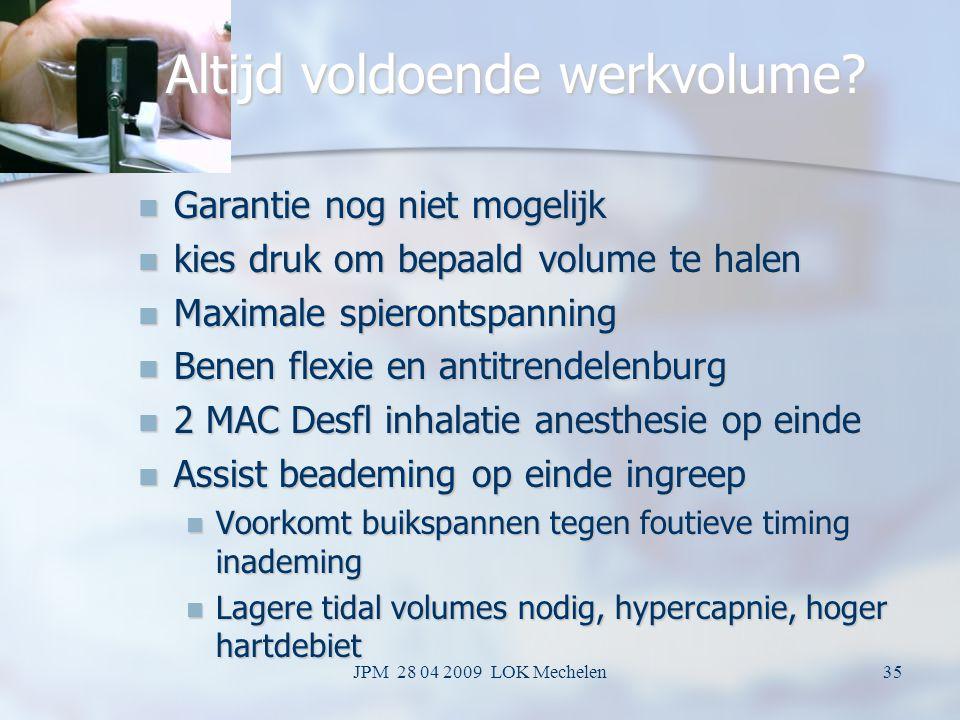 JPM 28 04 2009 LOK Mechelen34 Waarom spierontspanners soms geen effect hebben op abd PV Spier reeds volledig ontspannen voor toediening spierrelaxatie