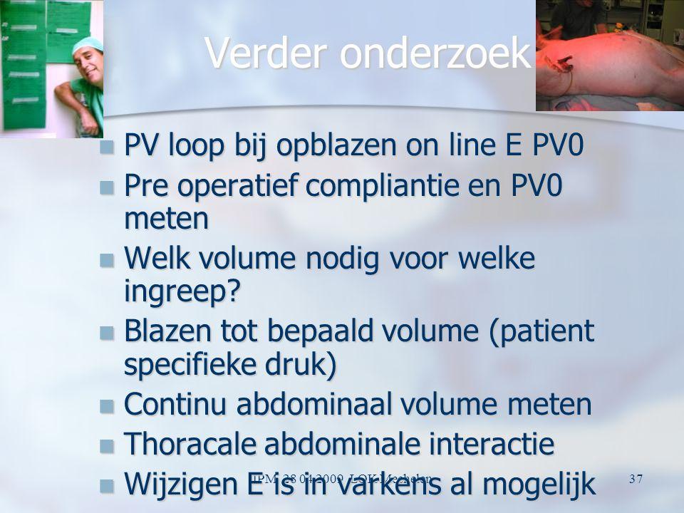 JPM 28 04 2009 LOK Mechelen36 Volume ipv Druk Dikwijls veel lagere druk nodig Dikwijls veel lagere druk nodig Hoeveel volume heb je nodig om te werken