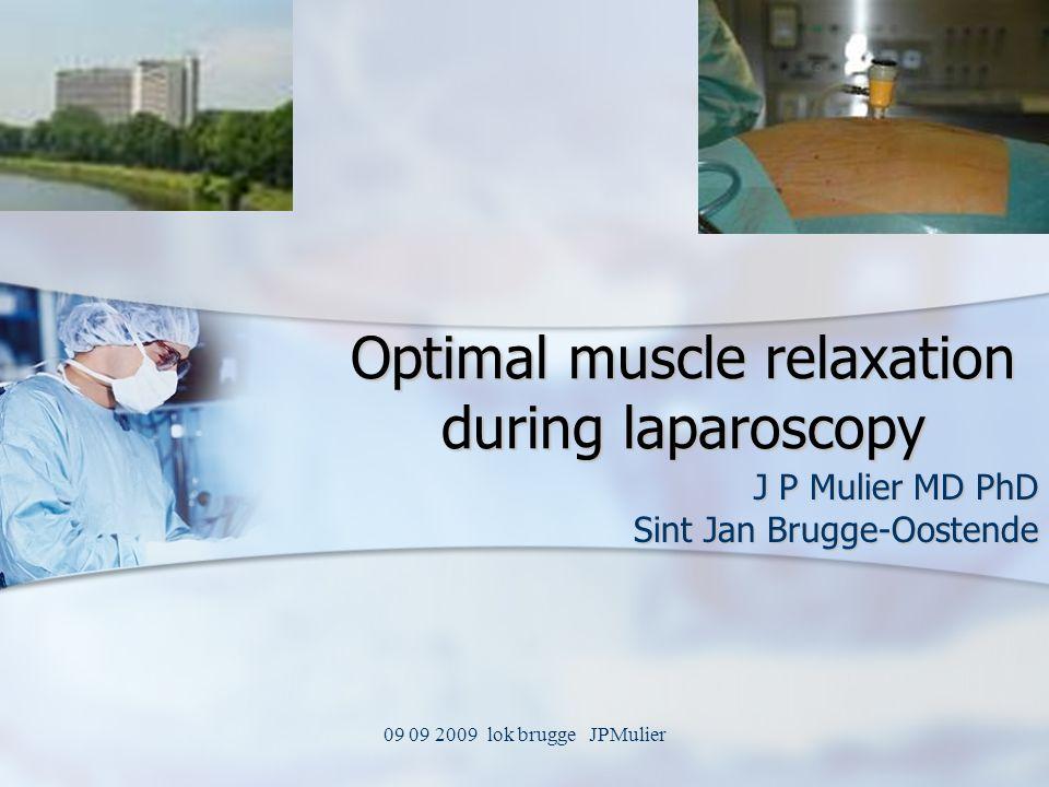 09 09 2009 lok brugge JPMulier Optimal muscle relaxation during laparoscopy J P Mulier MD PhD Sint Jan Brugge-Oostende