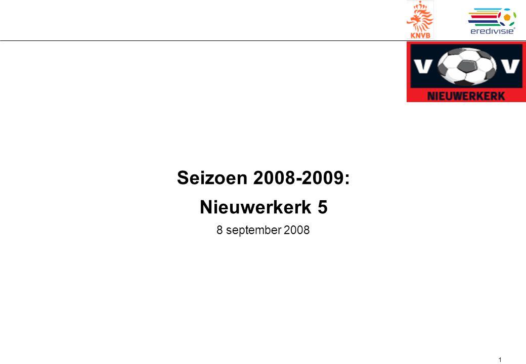 1 Seizoen 2008-2009: Nieuwerkerk 5 8 september 2008