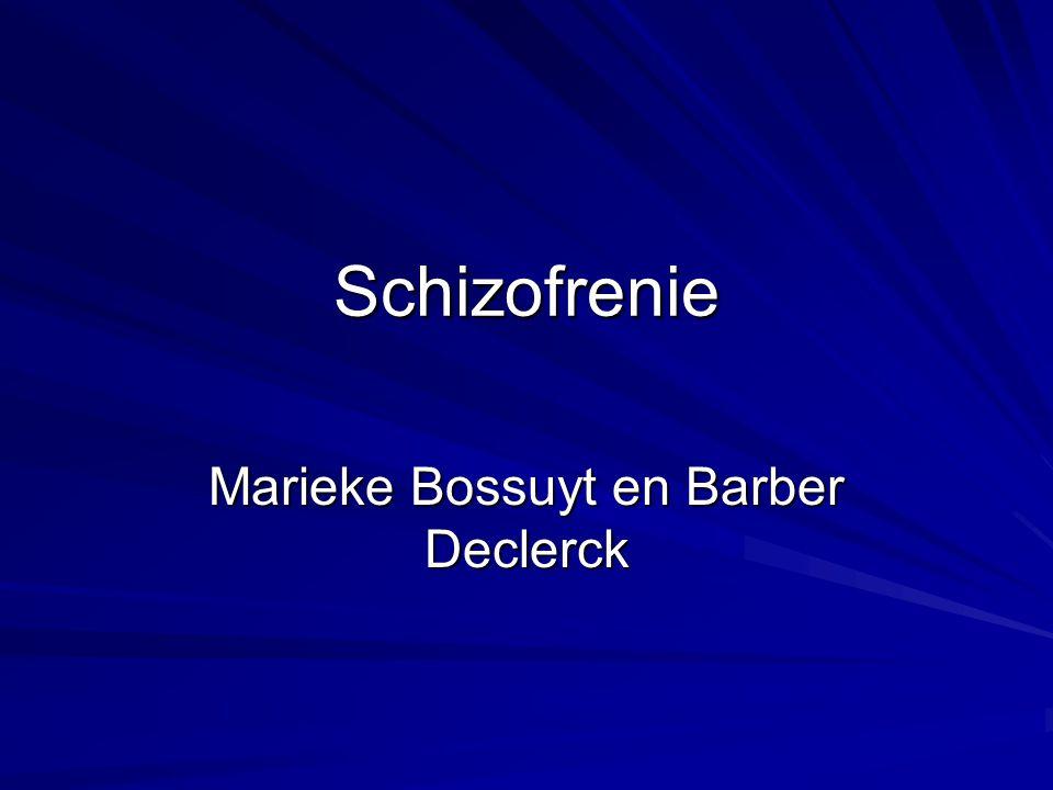 Schizofrenie Marieke Bossuyt en Barber Declerck