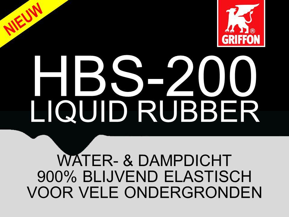 HBS-200 LIQUID RUBBER NIEUW WATER- & DAMPDICHT 900% BLIJVEND ELASTISCH VOOR VELE ONDERGRONDEN