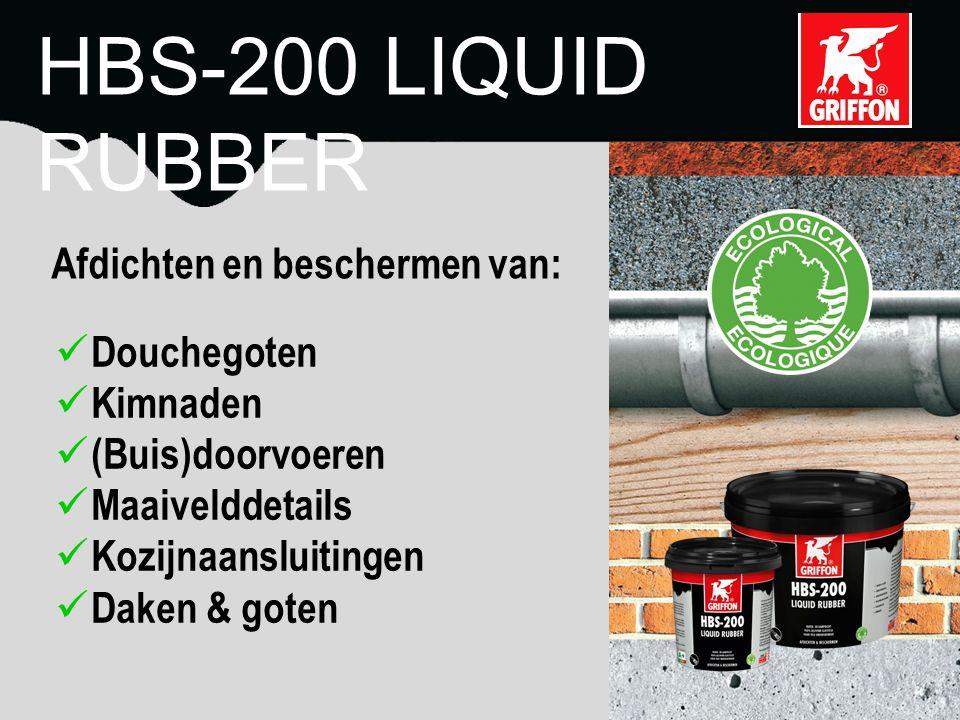 Oplosmiddelvrij VOC-vrij Niet toxisch Watergedragen HBS-200 LIQUID RUBBER Veilig voor mens en milieu: