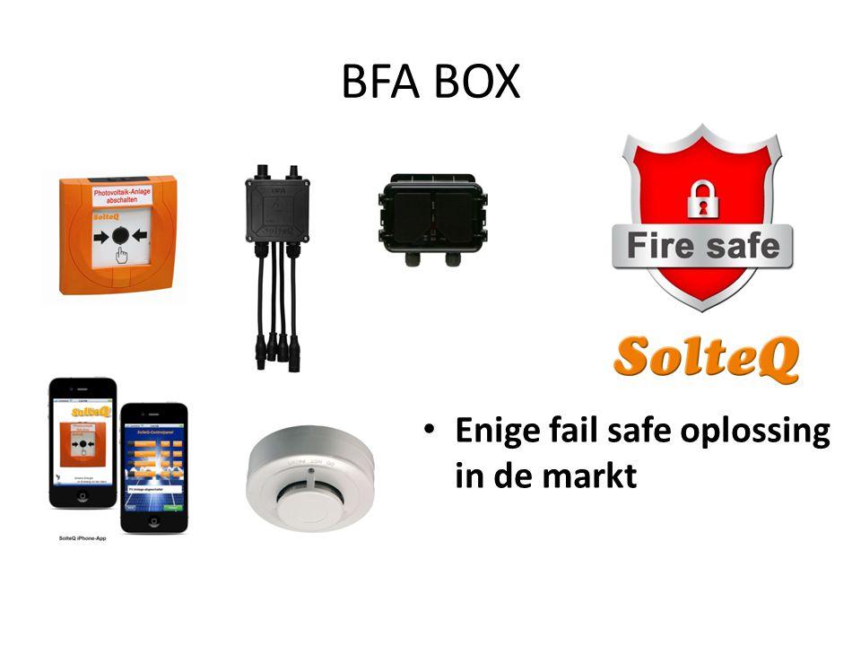 BFA BOX Enige fail safe oplossing in de markt