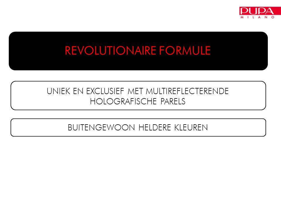 REVOLUTIONAIRE FORMULE UNIEK EN EXCLUSIEF MET MULTIREFLECTERENDE HOLOGRAFISCHE PARELS BUITENGEWOON HELDERE KLEUREN